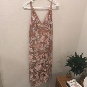 Midi crushed velvet dress